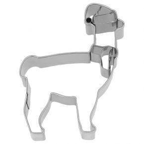 Ausstechform | Weihnachts-Lama, 9 cm