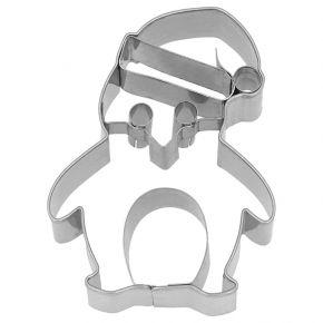 Ausstechform | Weihnachts-Pinguin, 8 cm