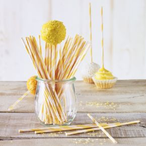 Lolli-Sticks | Orange-Gestreift