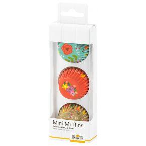 Mini-Muffin-Papierförmchen | Be Happy & Smile, Blumen