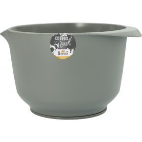 Rühr- und Servierschüssel, Grau, matt, 3,0 Liter