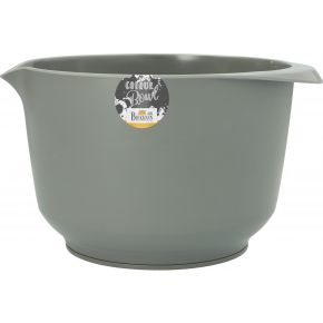 Rühr- und Servierschüssel, Grau, matt, 4,0 Liter
