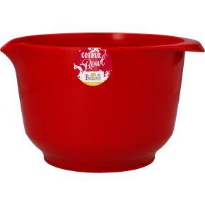 Rühr- und Servierschüssel, Rot, 3,0 Liter