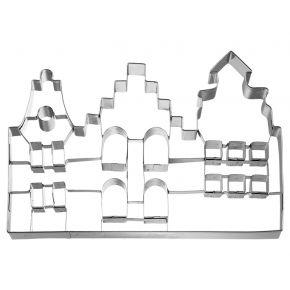 XXL-Ausstechform | Altstadthäuser, 18 cm