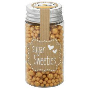 Zuckerperlen-Mix   Gold, 4 - 8 mm