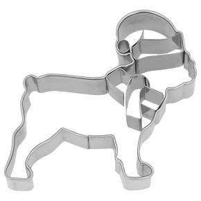 Ausstechform   Weihnachts-Bulldogge, 6 cm