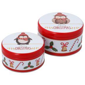 Gebäckdosen-Set, klein   Merry Christmas 2020