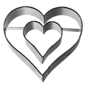 Herz mit Innenherz, 6 cm