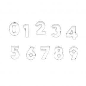 Zahlen-Set   0-9, je 6 cm