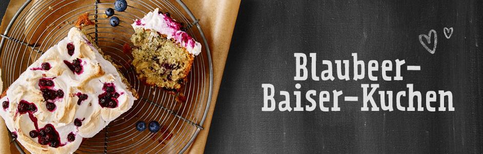 Rezept für guten Blaubeer-Baiser-Kuchen