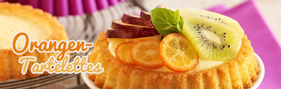 Rezept für fruchtige Orangen-Tartelettes