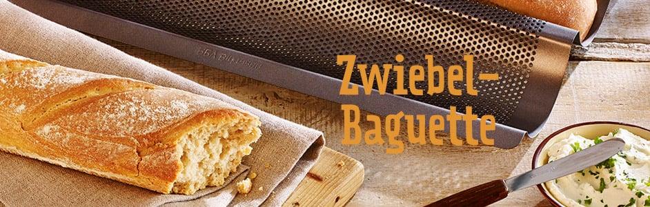 Rezept für knusprige Zwiebel-Baguettes